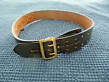 Jay Pee Belt 40 Bridle Cowhide Black Leather Police Service Duty Military 2