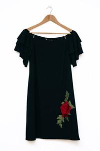 Women's midi Floral Dress size navy blue 8 & 10