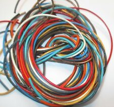 10 Bänder, je 1 Meter - 1 mm verschiedene Farben sortiert  Lederband Lederschnur