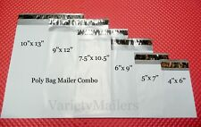 54 Poly Bag Mailer Variety Pack ~ 9 each of 6 Sizes Shipping Envelope Assortment