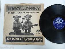 78rpm PINKY & PERKY tom dooley / the velvet glove DECCA F.11095