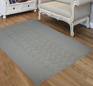 5'6 x 8' Rug | Hand Dhurrie (Punja Weave )  Grey  Wool Area Rug