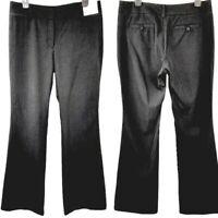 New York & Company Womens Mid-Rise City Stretch Black Slacks Pants Sz 8 Tall NWT