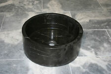 "Nero Marquina marble Wash Basin Bowl 40cm ""Roma"" Sink Natural Marble Stone"