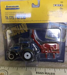 New Holland T6.175 Tractor W/ H7230 Disc Mower-conditioner In 1;64 Scale
