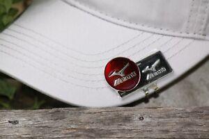 Mizuno Logo Red Ball Marker &  Hat Clip - Flat clip - Beautiful