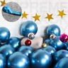 """50 Blue Metallic Balloons Chrome Shiny Latex 12"""" Thicken For Wedding Party Baby"""