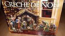 NATIVITY Set Kirkland Signature Creche De Noel 15 Figures w/ Crystal Accents
