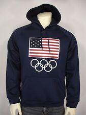 NWT TEAM APPAREL USA FLAG OLYMPIC RINGS HOODIE SWEATSHIRT MEN'S L
