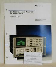 HP8566B Spectrum Analyzer 100Hz to 22GHz Technical Data