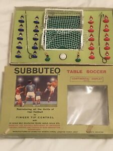 SUBBUTEO BOX SET 1960's WITH PITCH. GOOD CONDITION