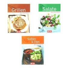 3er Set Kochbücher: Kochspaß - Grillen - Soßen & Dips - Salate