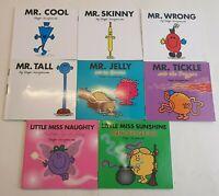 Mr Men & Little Miss Books - Roger Hargreaves 8 Books (Some Glitter Covers)