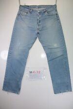 Levi's 501 Boyfriend (Cod. M1478) tg50 W36 L32 jeans usato Vita Alta vintage