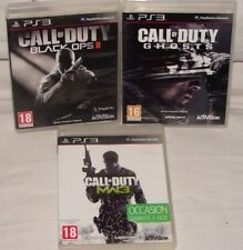 Call of Duty Black Ops II + Ghosts + MW3 PS3 3Cd Clin