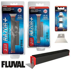 Fluval 2in1 Razor+ Algae Magnets Scrubber Scraper Cleans Aquarium Glass 2 Sizes