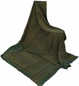 Bohemian Hand Block Ajrak Vintage Bedspread Kantha Stitch Throw Ethnic Quilt