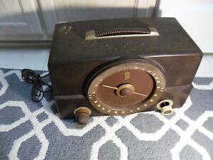 ZENITH AM FM tube bakelite antique old fixer upper radio hi fi amp 50's
