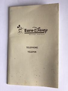 "1992 Euro Disney Resort ""Hotel"" Internal Telephone Telefon Guide Book + Note Pad"