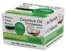 Virgin Coconut Oil Teeth Whitening Toothpaste with Baking Soda - 3 PACK DEAL