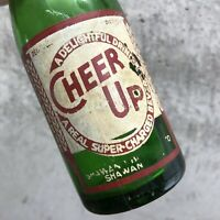Vintage Cheer Up Soda Pop Bottle Green Shawano WI