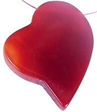 50mm Carnelian Agate Heart Pendant Bead