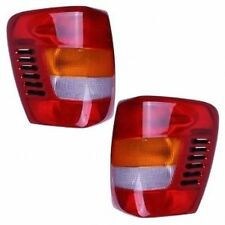 New Lamp Pair (Left & Right) Tail Lights Fits 1999-2004 Jeep Grand Cherokee