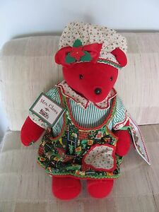 North American Bear Co VIB 1992 'MRS CLAWS' Christmas Limited Edition #448/8000