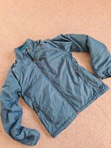 Womans Ladies Outdoor Research Coat Jacket Blue Size S Fleece Inner pertex