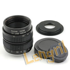 "2/3"" Television TV Lens/CCTV Lens for C Mount Camera 35mm F1.7 Micro Four Thirds"