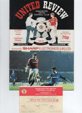 Manchester United v Tottenham Hotspur Spurs 1986 1986/87 1st Division + TICKET