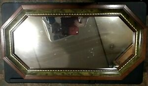 Octagonal Mirror with Wood Frame