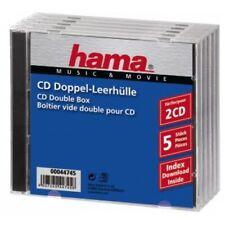 Hama 44745 boitiers CD Standard Double - Transparent