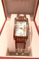 Anne Klein Watch Silver With Gold Highlights, Fashion Accessory, Spring Closure