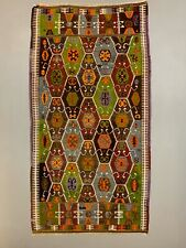 Vintage Turkish Barak Kilim Rug 295x158 cm Wool Large
