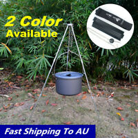 Foldable Grill Tripod Outdoor Camping Campfire Holder Picnic Cooking Pot Tool