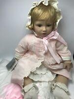 "Danbury Mint Vinyl Doll Baby Shirley Temple Elke Hutchens +Blanket+Bracelet 19"""