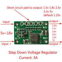 3A DC Buck Step-down Power Supply Converter 5v~16v to  1.5v 3.3v 6v 9v 12v 16v