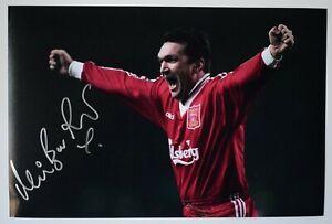 Neil Ruddock Signed Autograph 12x8 photo Liverpool LFC Football COA AFTAL