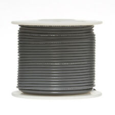 "18 AWG Gauge Solid Hook Up Wire Gray 100 ft 0.0403"" UL1007 300 Volts"