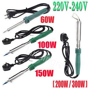 60W/100W/200W/300W Heat Pencil Electric Welding Soldering Gun Solder Iron Tool