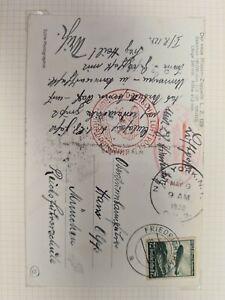 Germany 1936 Zeppelin LZ129 L7 to New York Postcard