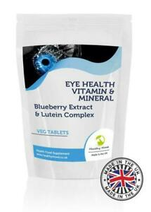 Eyehealth Vitamins Minerals Blueberry Lutein Tablets GB