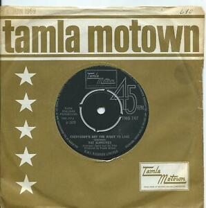 Supremes (The):Everybody's got the right to love/But I ..UK Tamla Motown:TMG 747