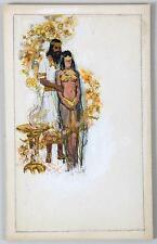DARRELL GREENE ILLUSTRATION SKETCHES A MALE AND FEMALE IN EGYPTIAN COSTUMES