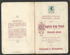 RARE!! ASTON VILLA v NEWCASTLE UNITED 1924 FA CUP FINAL