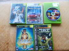 XBox LOT of 5 Games-Bionicle,Fable,Splinter Cell,Project Gotham Racing,Arcade