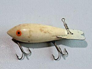 Vintage White Wooden Bomber Fishing Lure Body Bait Crankbait 9067