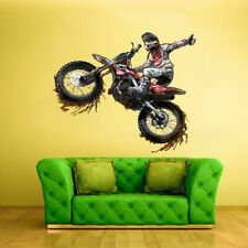 Dirt Bike Full Color Wall Decal Sticker Gift Motocross Motocycle Moto (Col331)