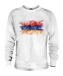 Armenien Distressed Flagge Unisex Pullover Top Hayastan Fußball Armenisches